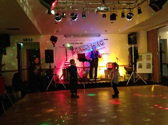 Kirkcudbright, UK: First ones on the dance floor last ones off!