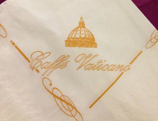 Caffe Vaticano: cute napkins