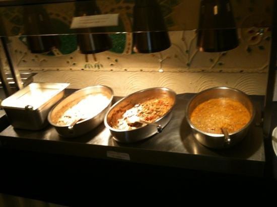 Kalpna: three main dishes with rice at the £8 buffet