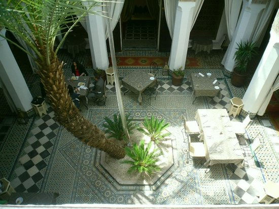 Angsana Riads Collection Morocco - Riad Bab Firdaus: The Riad Si Said Restaurant and forecourt