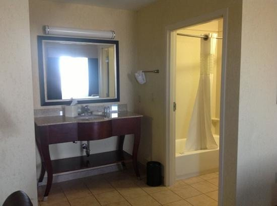 Hampton Inn & Suites Woodward : bathroom area. king