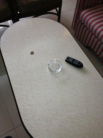 Awana Hotel: Why would a smoke free room have ash trays?