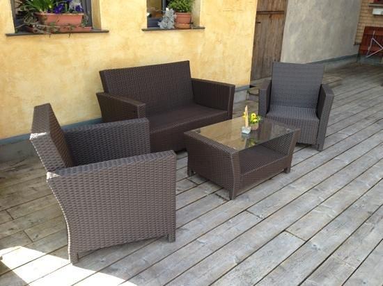 Weinstadl Rimmele: Lounge Möbel auf der neuen Sonnenterasse
