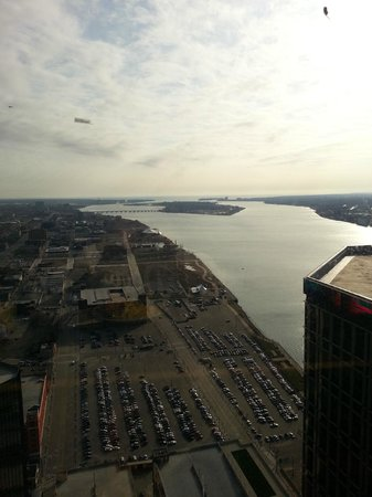 Detroit Marriott at the Renaissance Center: The city looks great from the 56th floor.
