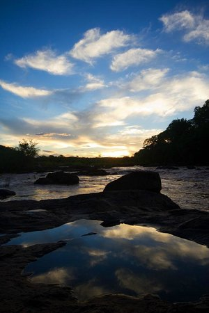 Bua River Lodge: Sunset