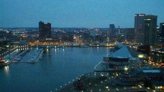 View from the room at Baltimore Marriott Waterfront