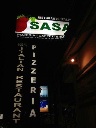 Sasa'  Ristorante Italiano: street sign