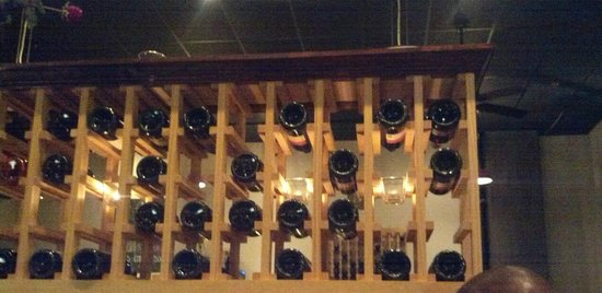 M Bistro and Wine Bar: various wine bottles allover the bistro
