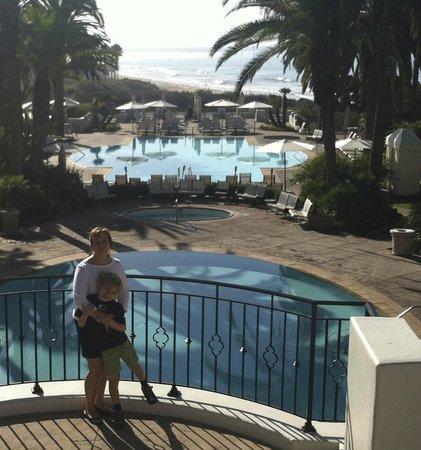 The Ritz-Carlton Bacara, Santa Barbara: View of pools, and beach beyond