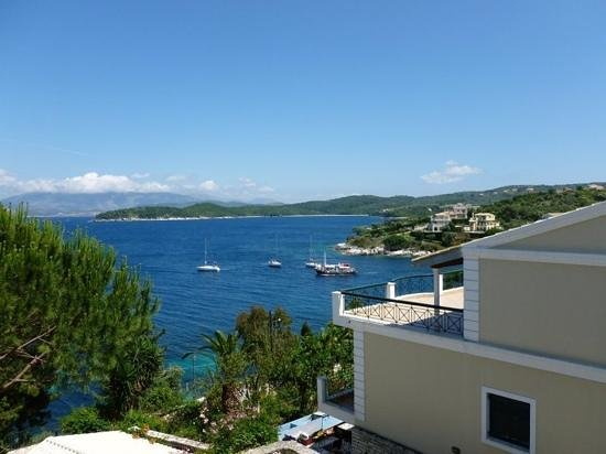 Kassiopi Bay: view from the 2 bed apartment