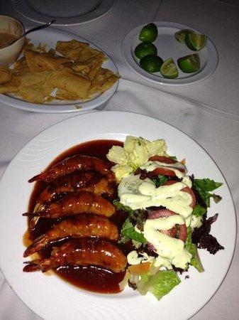 Restaurantes Bismark: camarones a la dibla