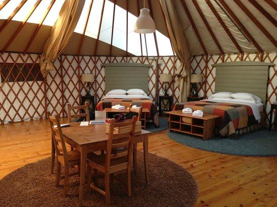 Treebones Resort : Inside our Grand Yurt