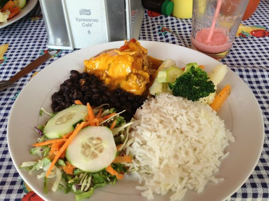 Rosi's Soda Tica : Costa Rican traditional casado lunch at Rosi's.