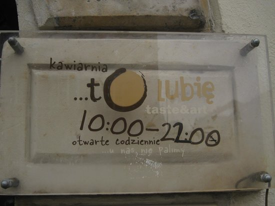 To Lubie: Sign at the entrance