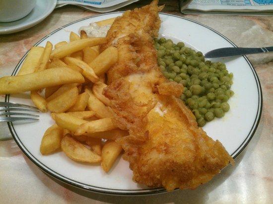 Deansgate Kitchen: Fish & Chips taken using my phone!