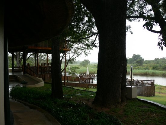 Sabie River Bush Lodge: The view over the river