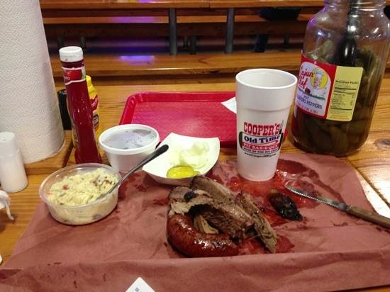 Cooper's Old Time Pit Bar-B-Que: no beans about it