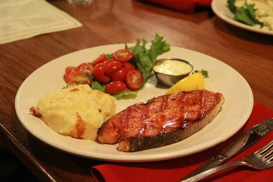 The Fish Market: Salmon steak