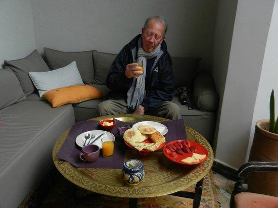 Le Rihani: petit déjeuner dans le patio