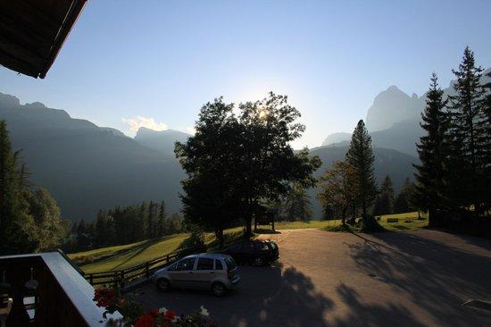 Baita Fraina: view from balcony at sundown
