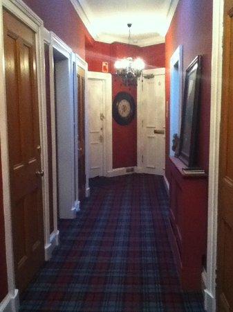 Randolph Mackenzie: the hallway inside the hotel with skylights