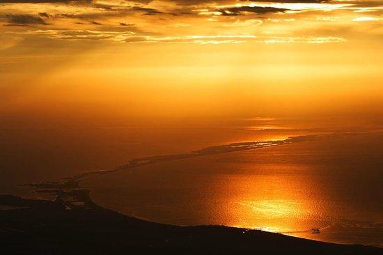 El Dorado Nature Reserve: Sunset from the El Dorado EcoLodge