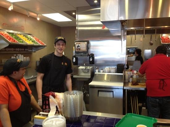 Cafe Rio Mexican Grill: clean kitchen with fresh veggies