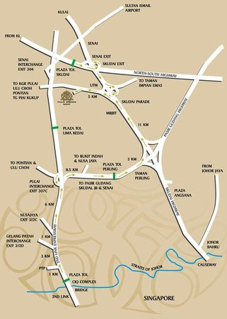 Location Map Picture of Pulai Springs Resort Johor Bahru