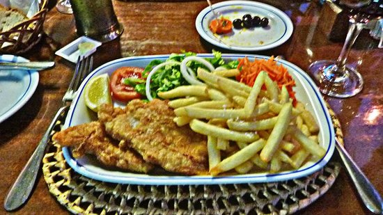 A Lagosteira: This is the fried fish fillet from the Special Lunch menu!