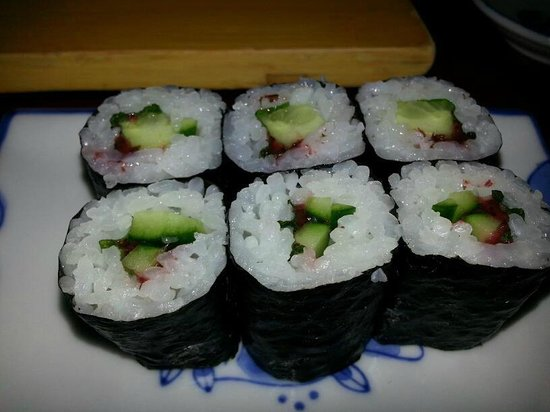Crystal Fish Ume,Shiso Sushi Roll