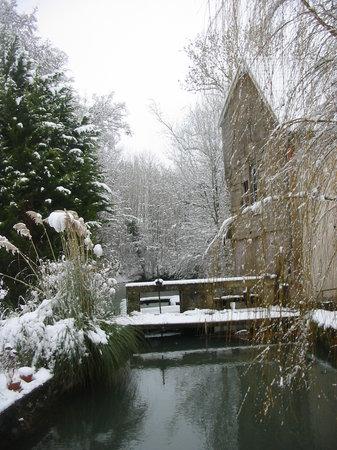 La Somme à Clamanges en hiver