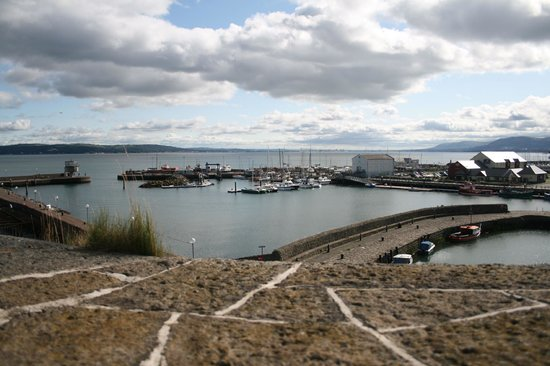 Carrickfergus Marina: View from the castle walls above.
