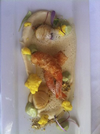 Mudbrick Vineyard & Restaurant : Prawns and scallops
