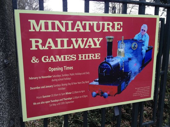 Grosvenor Museum: Miniature railway sign