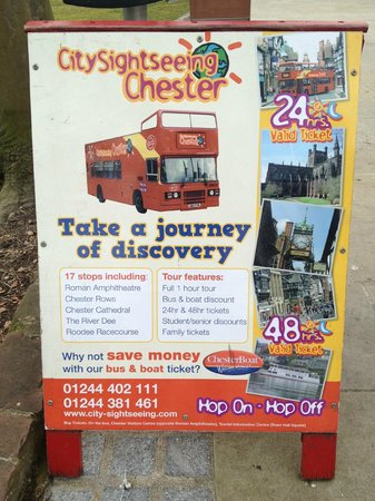 City Sightseeing Chester: Publicity sign