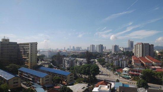 Hotel Sentral Riverview Melaka : View from the 9th floor corridor