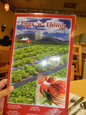 Eggs 'n' Things: menu