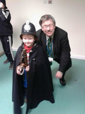 Keighley Civic Centre & Police Museum: Tour guide Gerald and my little boy