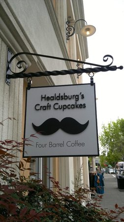 Moustache Baked Goods : Street sign