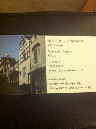Alfredo Restaurant: Alfredo Conwy
