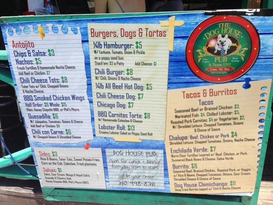 Dog House Pub: Menu! Check these out