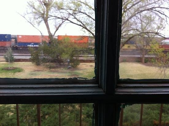 La Posada Hotel : View from room 200. Fun for the train lover.
