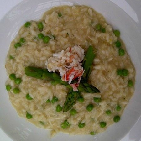 Terrace in The Park: Crab risotto