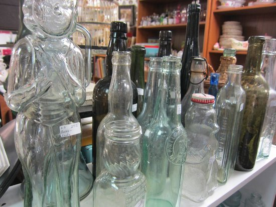 Whistlestop Antiques: Glass bottles - dusty and cool!