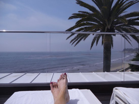 Four Seasons Resort The Biltmore Santa Barbara: at cabana club overlooking private beach