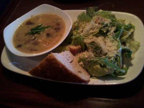 Earls: cold soup and bland salad