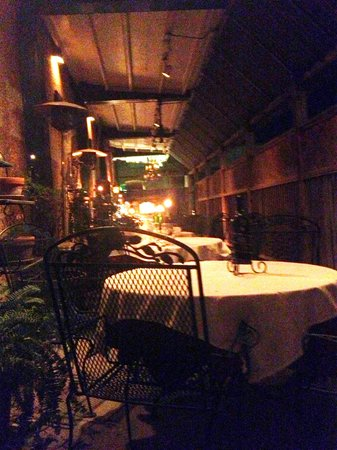 Warehouse Bistro : Outside tables