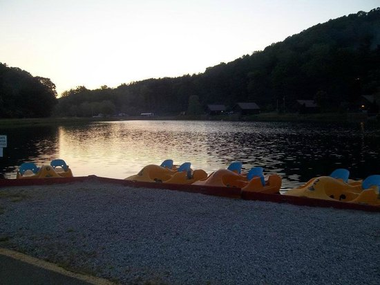 Mohican Adventures Campground & Cabins : The Lake/ Paddleboats
