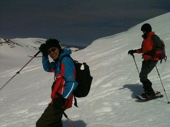 Mount Kosciuszko National Park: Descending from Mt Kosciuszko in Winter - Snow Shoe Trip with K7 Adventures