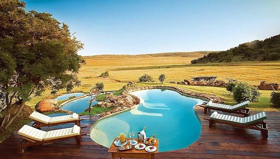 Pitse Lodge: Pool overlooking the South African Bushveld